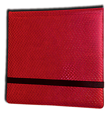 Binder - 3x4 12 Pkt. Dragon Hide Red