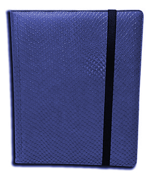 Binder - 9 Pkt Dragon Hide Blue