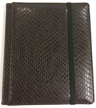 Binder - 4 Pkt Dragon Hide Dark Chocolate