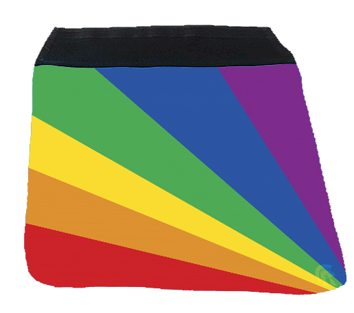 Messenger Bag Flap - Rainbow