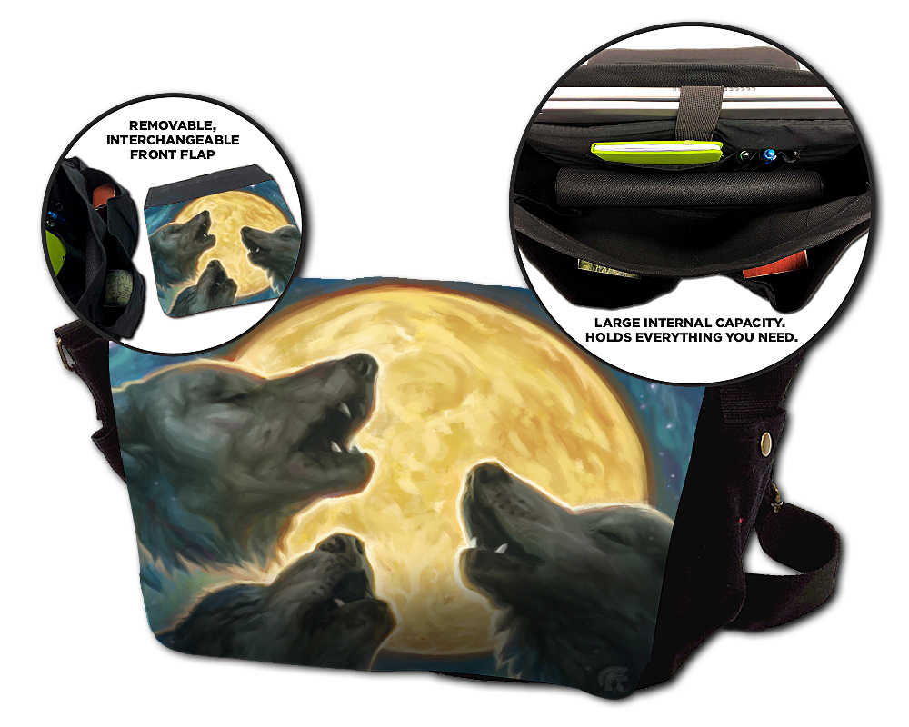 Messenger Bag - Three Wolf