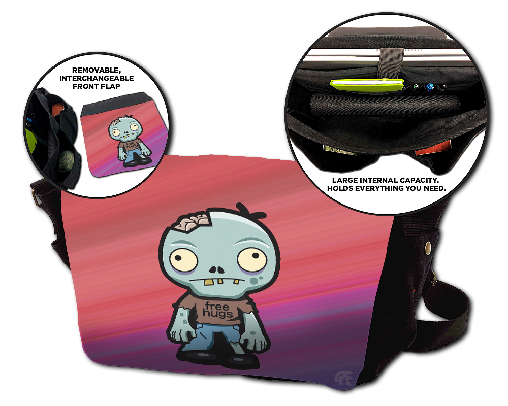 Messenger Bag - Zombie Hugs