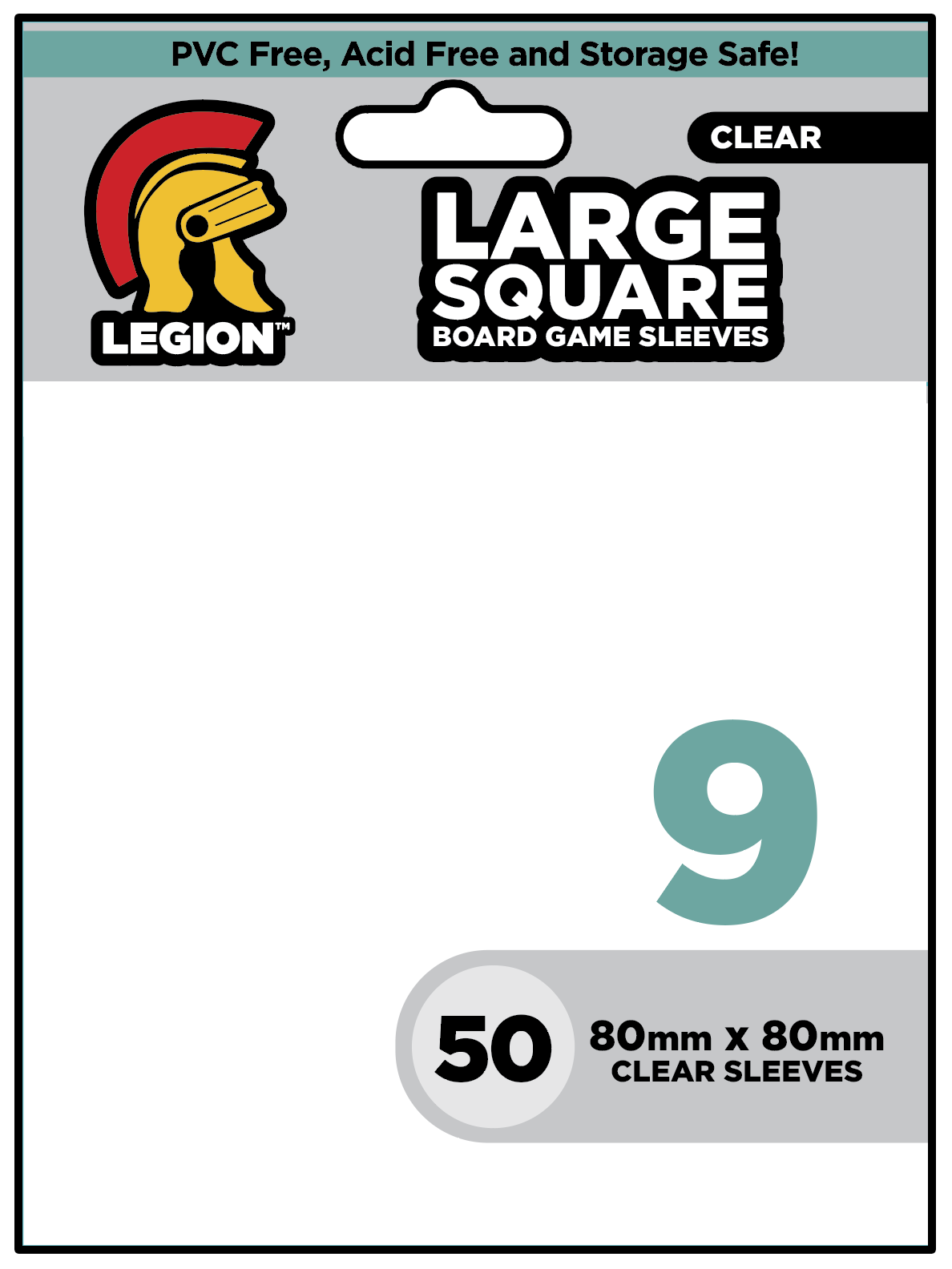 Board Game Sleeve 9 - Large Square