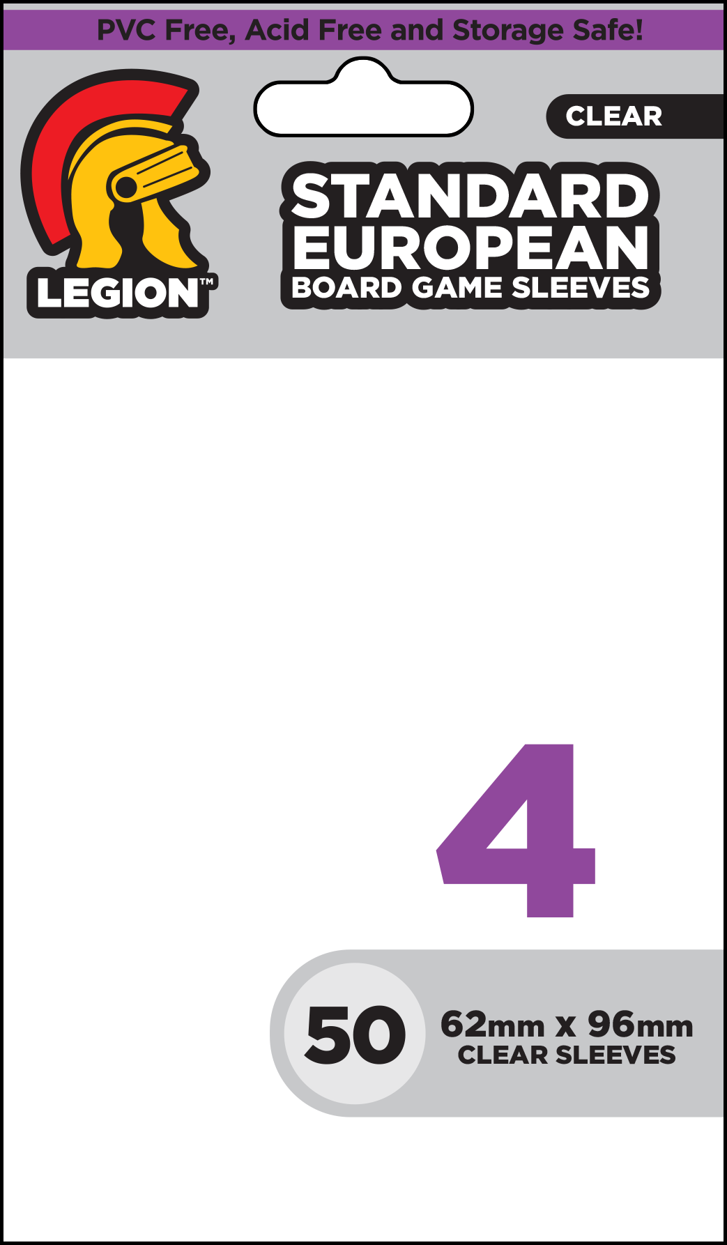Board Game Sleeve 4 - Standard European