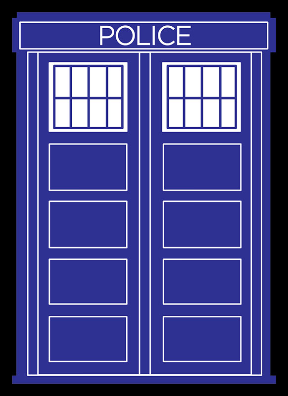 Sleeve - Police Box Black Border