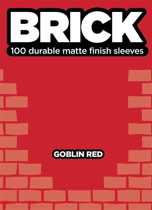Sleeve - Brick - Goblin Red