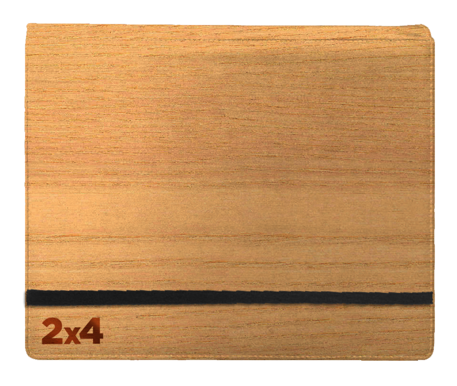 Binder - 2x4 8 Pkt.Woodgrain