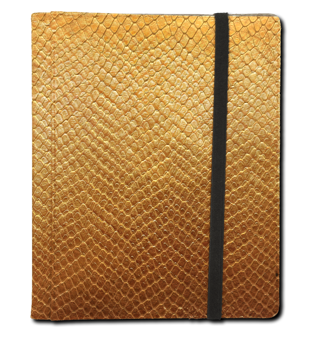 Binder - 4 Pkt Dragon Hide Gold