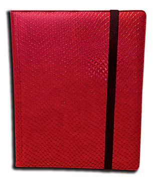 Binder - 9 Pkt Dragon Hide Red