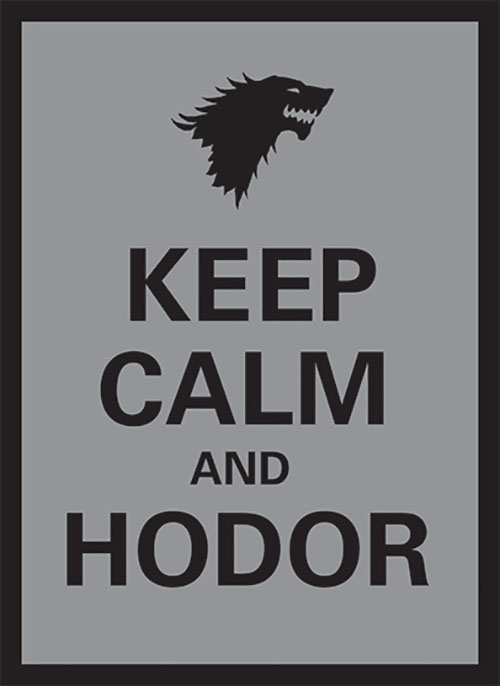 Sleeve - Keep Calm and Hodor